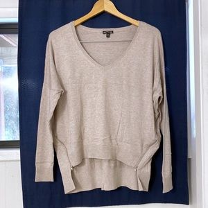 Express Taupe High-Low Sweater